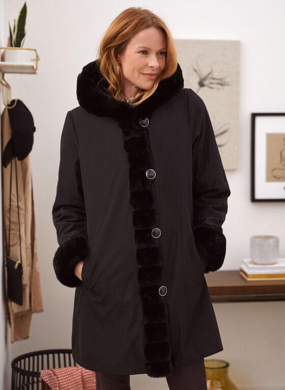 Nuage - Reversible Faux Fur Coat, Black