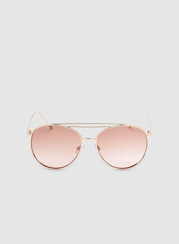 Aviator Sunglasses, Pink, hi-res