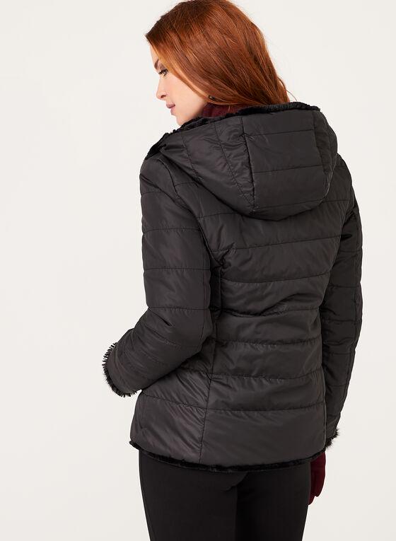 Nuage - Reversible Faux Fur Coat, Black, hi-res