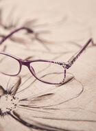 Lunettes de lecture à motif géométrique, Violet
