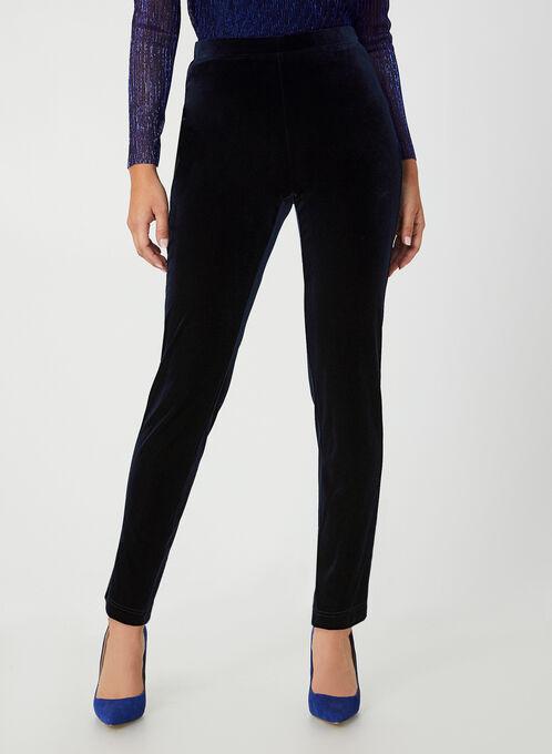 City Fit Velvet Pants, Blue