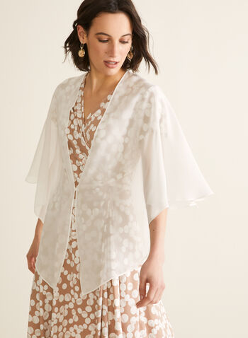 Chiffon Shawl, Off White,  shawl, cover up, stole, chiffon, spring summer 2020