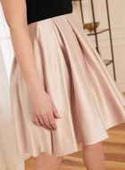 Off-The-Shoulder Flare Dress, Black