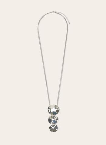 Collier sautoir à pendants géométriques, Argent, hi-res