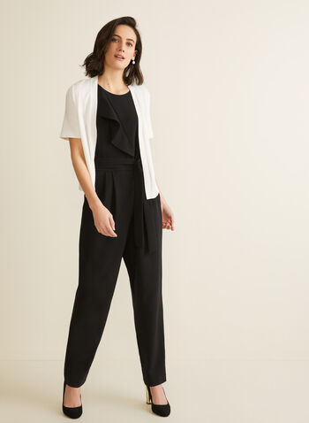 Short Sleeve Open Front Bolero, Off White,  bolero, short sleeves, open front, cardigan, top, spring 2020, summer 2020