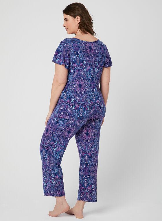 Hamilton - Pyjama 2 pièces imprimé cachemire, Bleu, hi-res