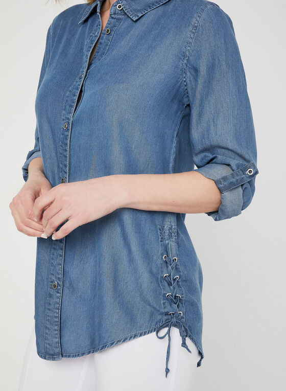 GG Jeans - Denim Style Tencel Shirt, Blue, hi-res
