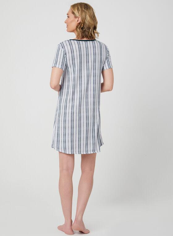 Claudel Lingerie – Marine Print Nightshirt, White, hi-res