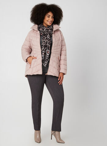 Bernardo - Quilted Packable Coat, Pink,  Bernardo, packable, coat, EcoPlume, water resistant, quilted, fall 2019, winter 2019