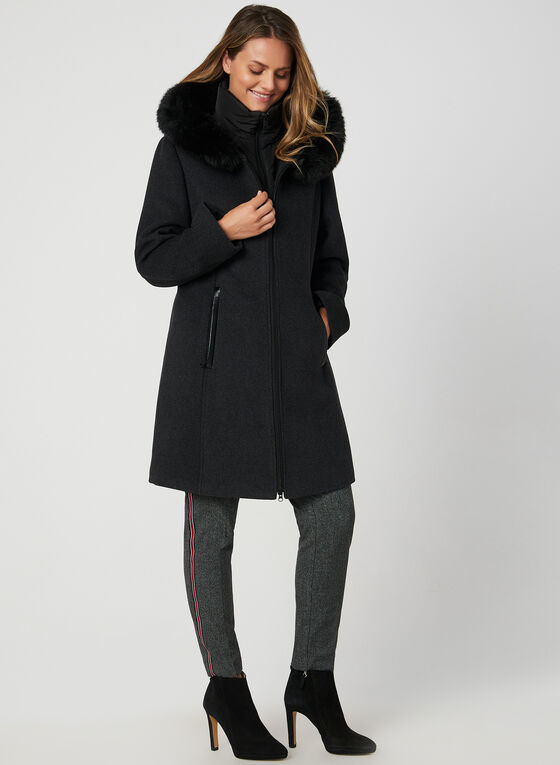 Portrait - Wool-Blend Coat, Grey