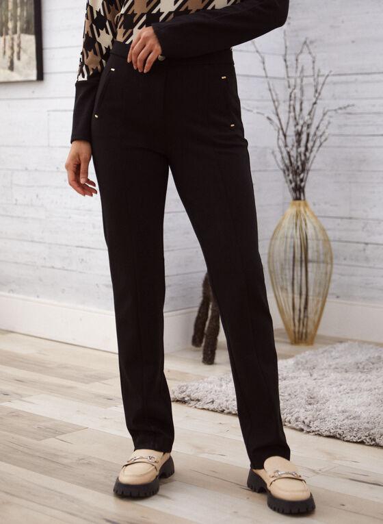 Signature Fit Straight Leg Pants, Black