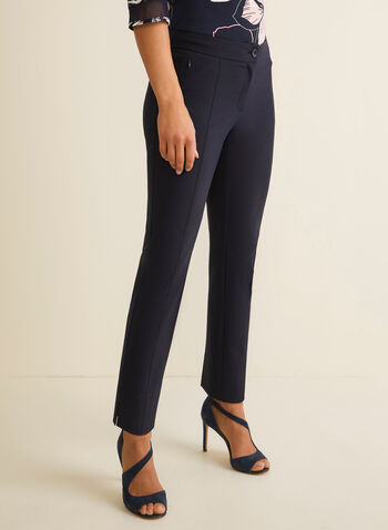 City Fit Mid Rise Pants, Blue,  pants, contour waist, mid rise, slim leg pants, comfortable, fall 2019, winter 2019