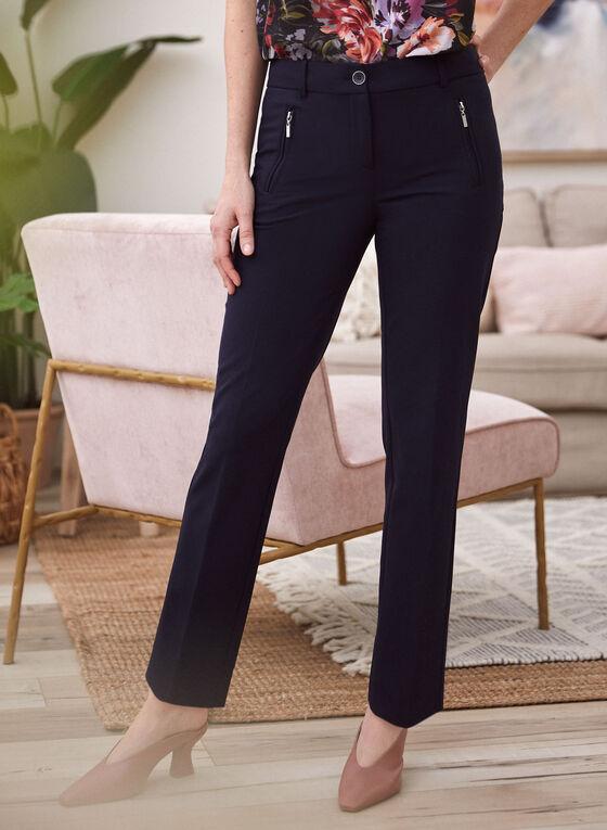 City Fit Straight Leg Pants, Blue