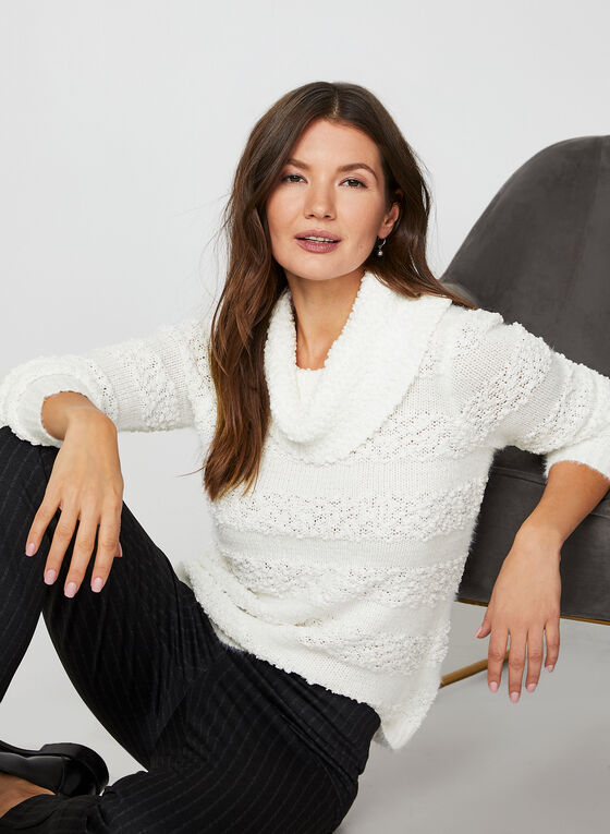 Cowl Neck Sweater, Off White