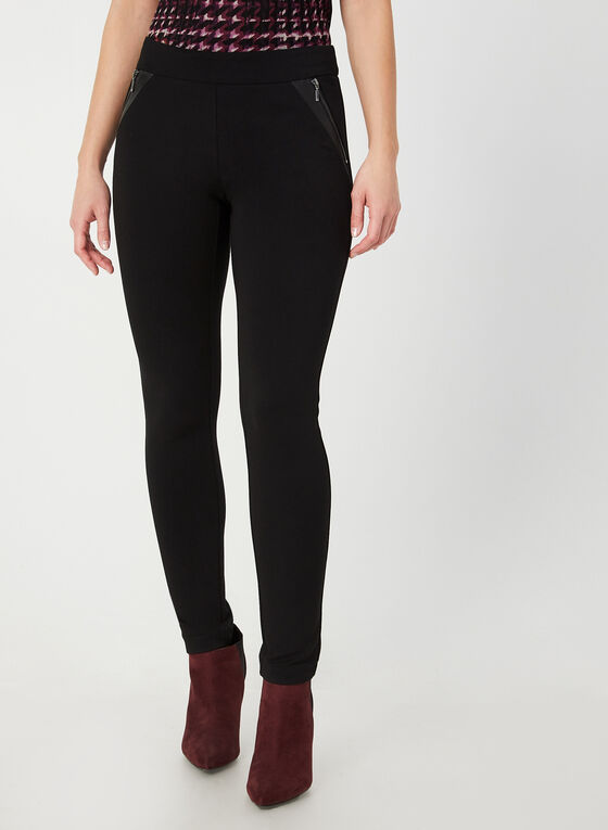 City Fit Slim Leg Pants , Black