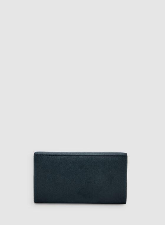 Bow Detail Clutch, Blue, hi-res
