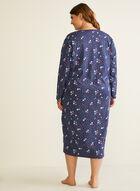 Floral Print Nightshirt, Blue
