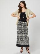 Aztec Print Maxi Skirt, Black, hi-res