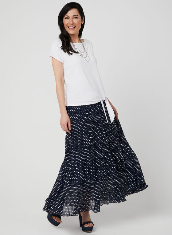 Alison Sheri - Tiered Maxi Skirt, Blue, hi-res