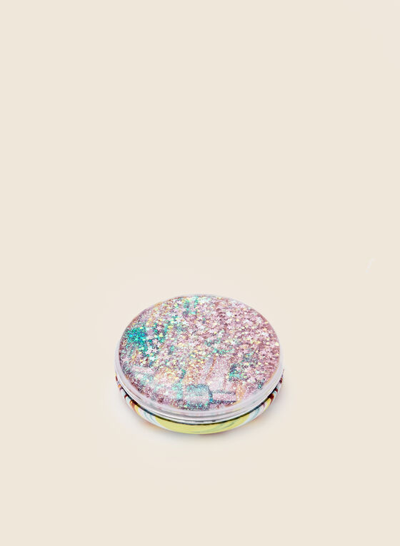 Multi Print Compact Mirror, Pink
