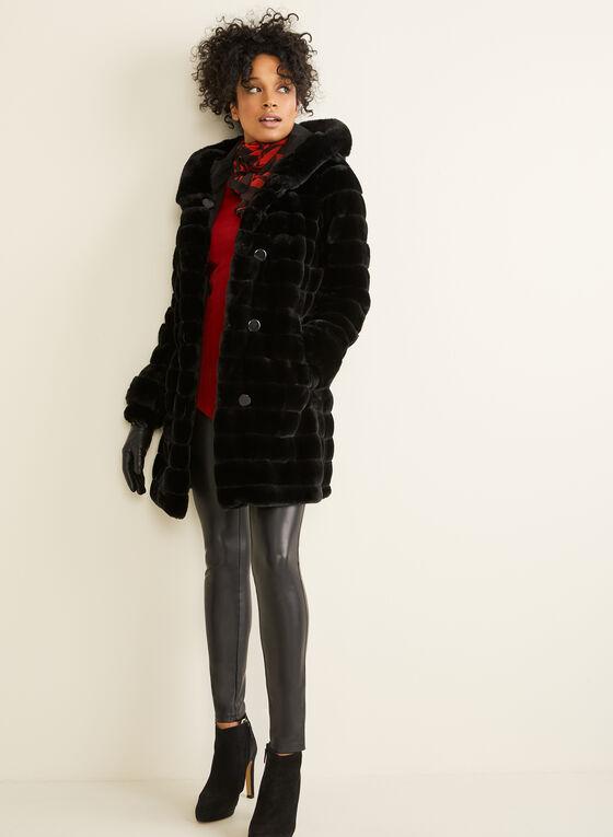 Nuage - Manteau réversible à capuchon, Noir
