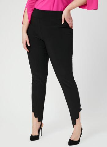 Joseph Ribkoff - Pantalon coupe moderne festonné, Noir, hi-res