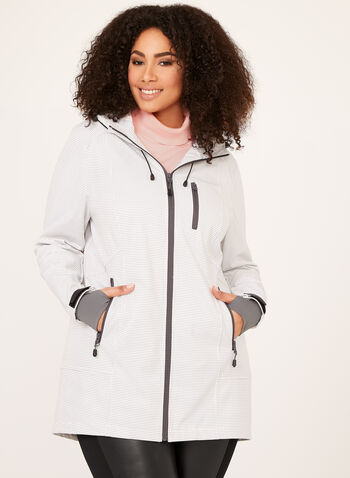 Novelti - Stitch Print Raincoat, Off White, hi-res