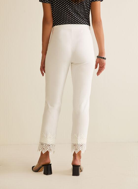 Lace Detail City Fit Pants, Off White