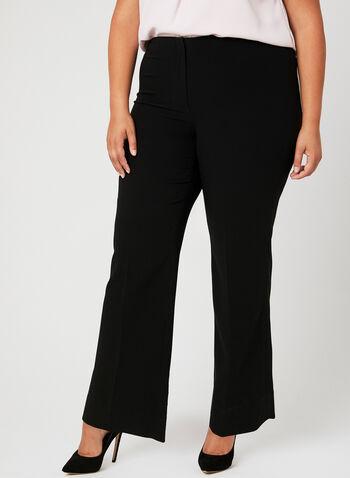 Louben - Signature Fit Wide Leg Pants, Black, hi-res,