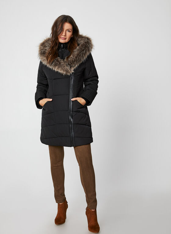 Northside - Hooded Quilted Coat, Black