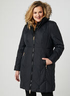 Quilted Down Coat, Black, hi-res
