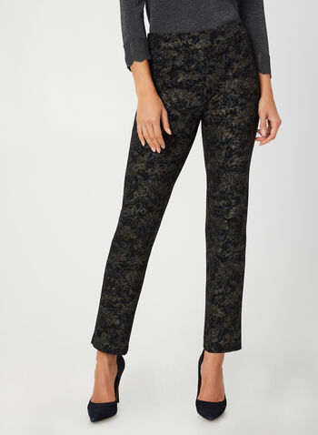 Modern Fit Paisley Pants, Black,  Canada, pants, Modern Fit, slim leg, paisley, pull-on, fall 2019, winter 2019