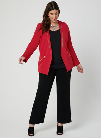 Vex - Zipper Trim Jacket, Red, hi-res