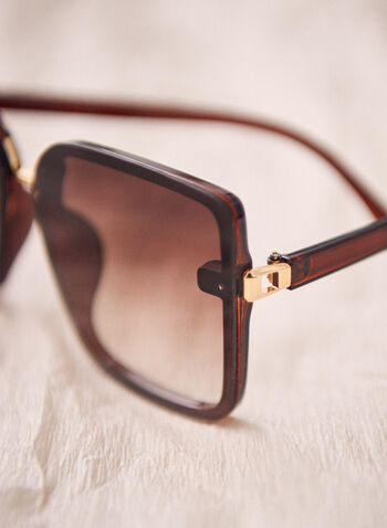 Oversize Square Sunglasses, Brown,  sunglasses, oversize, square, plastic, spring summer 2021