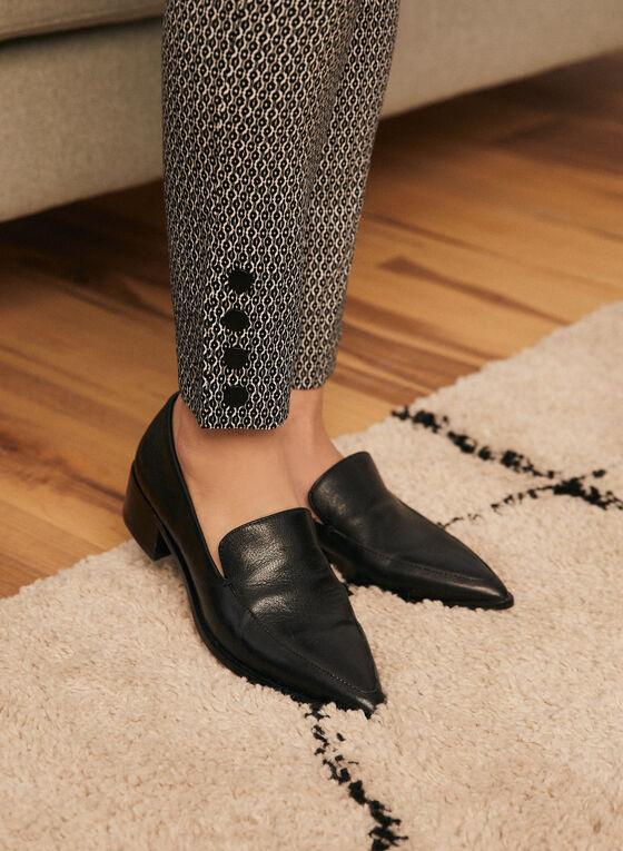City Fit Contrast Pattern Pants, Black