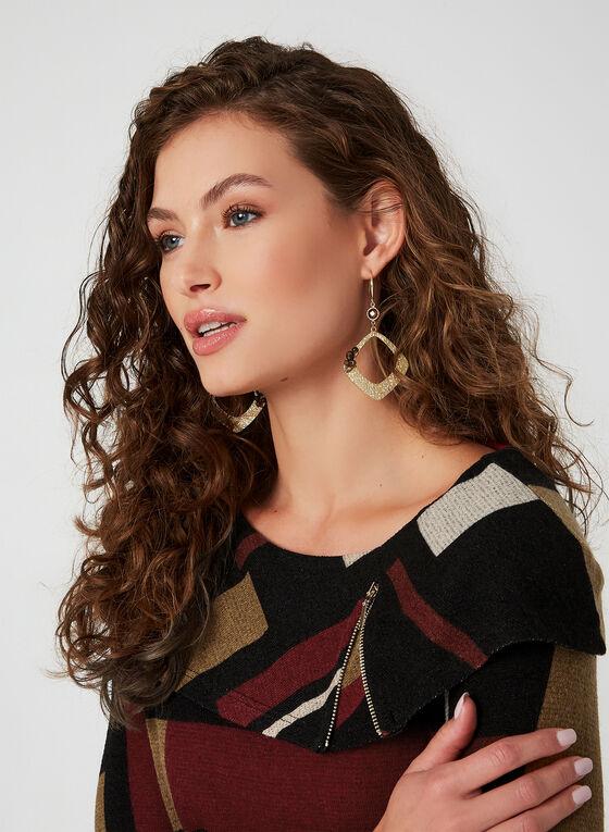 Haut en tricot à motif géométrique, Noir, hi-res