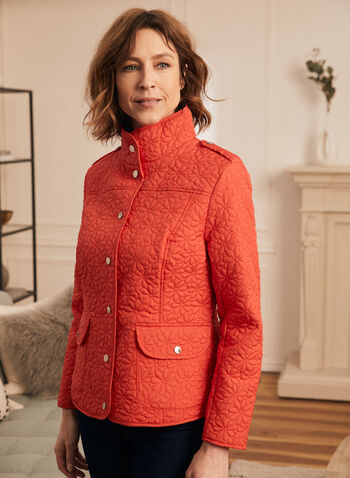 Novelti - Lightweight Quilted Coat, Red,  spring summer 2020, quilted coat, flap pcokets