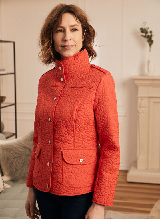 Novelti - Lightweight Quilted Coat, Red