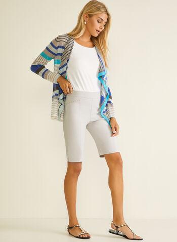 Stud Detail Bermuda Shorts, Grey,  bermuda, shorts, pull-on, studs, spring summer 2020