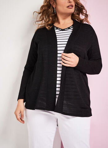 Textured Knit Cascade Cardigan, , hi-res