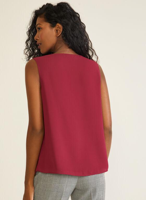 Tiered Sleeveless Blouse, Purple