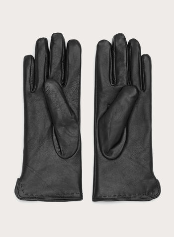 Stitch Detail Leather Gloves, , hi-res