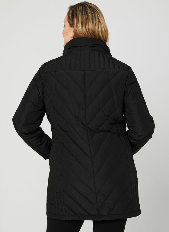 Hooded Down Coat, Black, hi-res