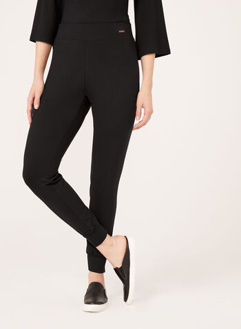 Cuff Leg Pull-On Pants, Black, hi-res