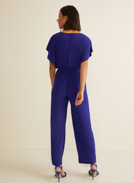 Batwing Sleeve Jumpsuit, Blue