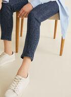Jeans à jambe étroite motif serpent, Bleu