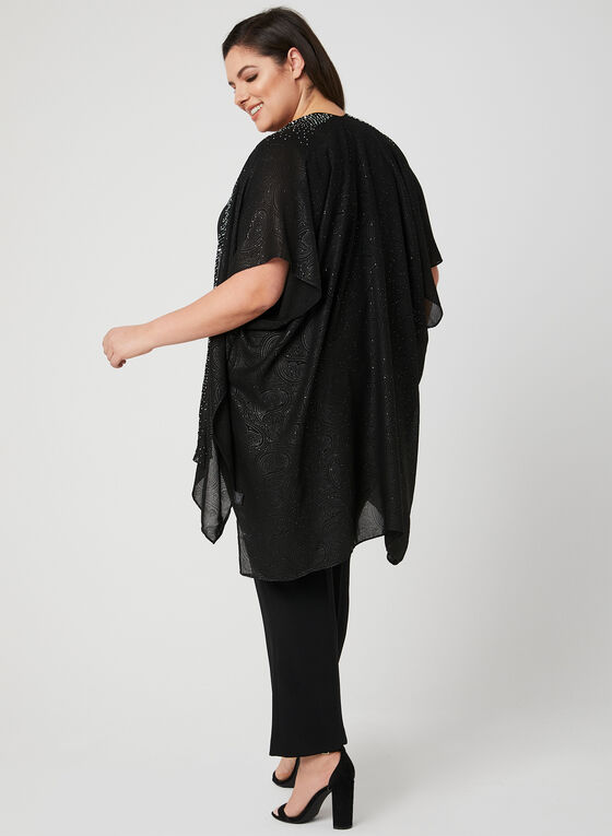 Foulard pashmina à détails cloutés, Noir, hi-res