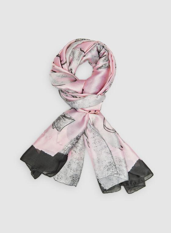 Floral Print Scarf, Pink