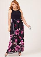Floral Print Maxi Dress, Blue, hi-res