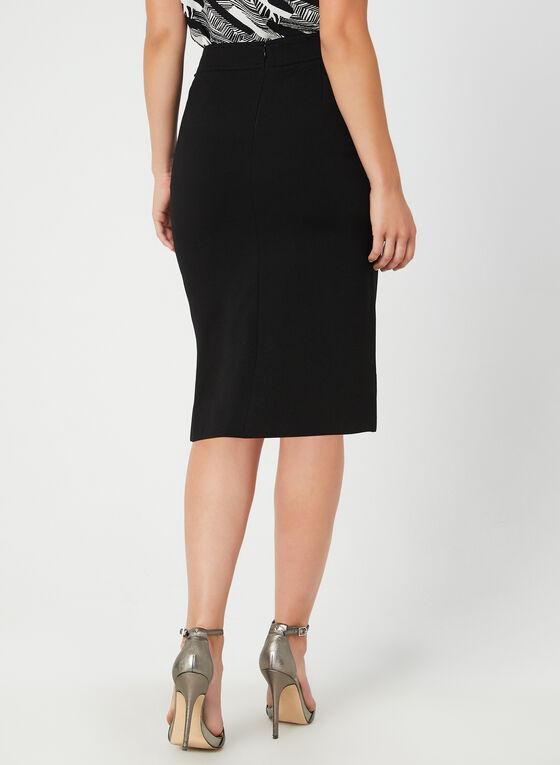 Buckle Detail Pencil Skirt, Black, hi-res